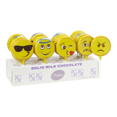 EMOTICON MILK CHOCOLATE 1 OZ LOLLIPOP