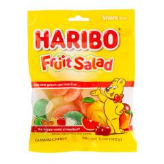 HARIBO FRUIT SALAD GUMMI CANDY 5 OZ PEG BAG