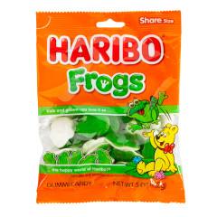 HARIBO FROGS GUMMI CANDY 5 OZ PEG BAG