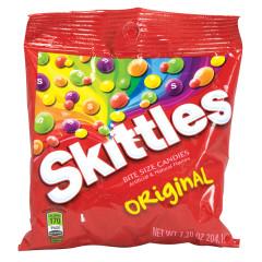 SKITTLES ORIGINAL 7.2 OZ PEG BAG