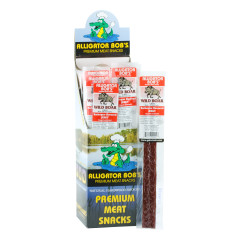 ALLIGATOR BOB'S WILD BOAR JERKY STICK 1 OZ *FL DC ONLY*