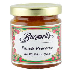 BRASWELL'S PEACH PRESERVES 5 OZ JAR *FL DC ONLY*