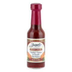 BRASWELL'S VIDALIA ONION AND PEACH HOT SAUCE 5 OZ BOTTLE *FL DC ONLY*