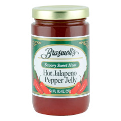 BRASWELL'S HOT JALAPENO PEPPER JELLY 10.5 OZ JAR *FL DC ONLY*