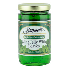 BRASWELL'S MINT JELLY WITH LEAVES 10.5 OZ JAR *FL DC ONLY*
