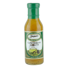 BRASWELL'S GARLIC VINAIGRETTE AND OLIVE OIL DRESSING 12 OZ BOTTLE *FL DC ONLY*