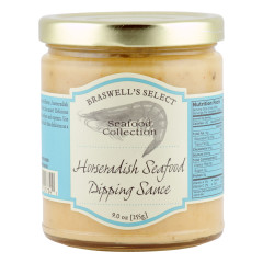 BRASWELL'S HORSERADISH SEAFOOD DIPPING SAUCE 12 OZ JAR *FL DC ONLY*