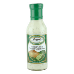 BRASWELL'S VIDALIA ONION CREAMY CUCUMBER DRESSING 12 OZ BOTTLE *FL DC ONLY*