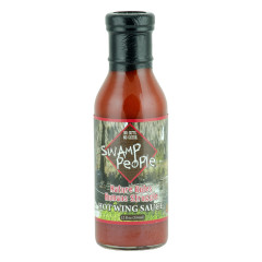 SWAMP PEOPLE NATURE RULES HUMANS STRUGGLE HOT WING SAUCE 12 OZ BOTTLE *FL DC ONLY*