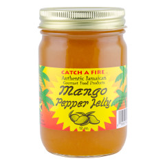 CATCH A FIRE MANGO PEPPER JELLY 12 OZ JAR *FL DC ONLY*
