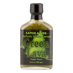 CATCH A FIRE GREEN LAVA PEPPER SAUCE 6.5 OZ BOTTLE *FL DC ONLY*