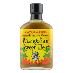 CATCH A FIRE MANGOLIAN SWEET HEAT PEPPER SAUCE 6.5 OZ BOTTLE *FL DC ONLY*