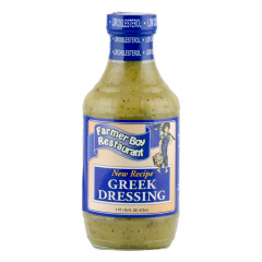 FARMER BOY GREEK DRESSING 16 OZ BOTTLE *FL DC ONLY*