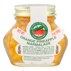 DOD ORANGE PINEAPPLE MARMALADE 3 OZ JAR *FL DC ONLY*