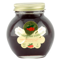 DOD RED RASPBERRY CONSERVES 8 OZ JAR *FL DC ONLY*