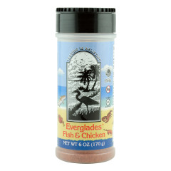 EVERGLADES FISH AND CHICKEN SEASONING 6 OZ SHAKER JAR *FL DC ONLY*