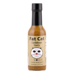 FAT CAT CARIBBEAN CURRY SAUCE 5 OZ BOTTLE *FL DC ONLY*