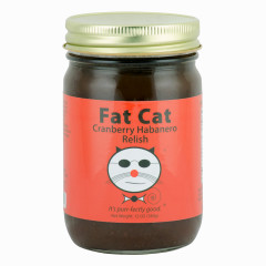 FAT CAT CRANBERRY HABANERO RELISH 12 OZ JAR *FL DC ONLY*