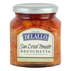 DELALLO SUN DRIED TOMATO BRUSCHETTA 10 OZ JAR *FL DC ONLY*