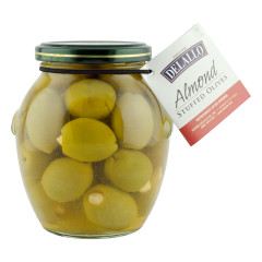 DELALLO ALMOND STUFFED OLIVES 7 OZ JAR *FL DC ONLY*