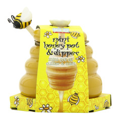 CERAMIC MINI HONEY POT AND DIPPER *FL DC ONLY*