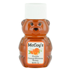 MCCOY'S ORANGE BLOSSOM HONEY 2 OZ BEAR SQUEEZE BOTTLE *FL DC ONLY*