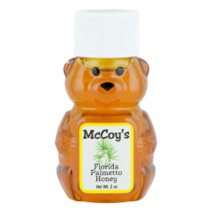 MCCOY'S PALMETTO HONEY 2 OZ BEAR SQUEEZE BOTTLE *FL DC ONLY*