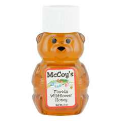 MCCOY'S WILDFLOWER HONEY 2 OZ BEAR SQUEEZE BOTTLE *FL DC ONLY*