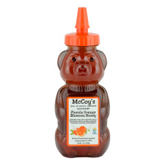 MCCOY'S ORANGE BLOSSOM HONEY 12 OZ BEAR SQUEEZE BOTTLE *FL DC ONLY*