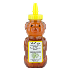 MCCOY'S PALMETTO HONEY 12 OZ BEAR SQUEEZE BOTTLE *FL DC ONLY*
