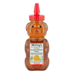 MCCOY'S WILDFLOWER HONEY 12 OZ BEAR SQUEEZE BOTTLE *FL DC ONLY*