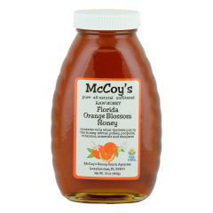 MCCOY'S ORANGE BLOSSOM HONEY 1 LB GLASS BOTTLE *FL DC ONLY*