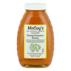 MCCOY'S PALMETTO HONEY 1 LB GLASS BOTTLE *FL DC ONLY*