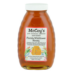 MCCOY'S FLORIDA WILDFLOWER HONEY 1 LB GLASS BOTTLE *FL DC ONLY*
