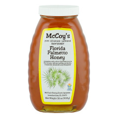 MCCOY'S PALMETTO HONEY 2 LB GLASS BOTTLE *FL DC ONLY*