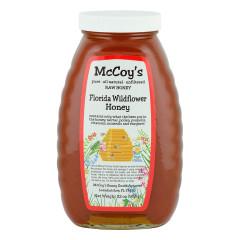MCCOY'S WILDFLOWER HONEY 2 LB GLASS BOTTLE *FL DC ONLY*