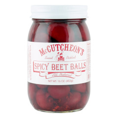 MCCUTCHEON'S SPICY BEET BALLS 16 OZ JAR *FL DC ONLY*