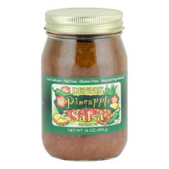 DENNIS' PINEAPPLE SALSA 16 OZ JAR *FL DC ONLY*