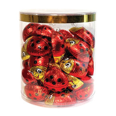 MADELAINE MILK CHOCOLATE FOILED LADY BUGS