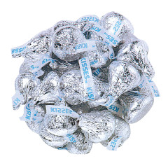 HERSHEY'S KISSES SILVER FOILED
