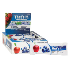 THAT'S IT APPLE AND BLUEBERRY FRUIT BAR 1.2 OZ