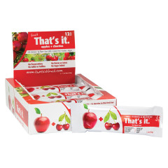 THAT'S IT APPLE AND CHERRY FRUIT BAR 1.2 OZ