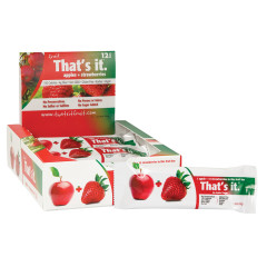 THAT'S IT APPLE AND STRAWBERRY FRUIT BAR 1.2 OZ