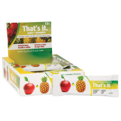 THAT'S IT APPLE AND PINEAPPLE FRUIT BAR 1.2 OZ