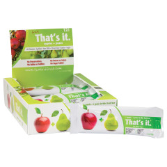 THAT'S IT APPLE AND PEAR FRUIT BAR 1.2 OZ