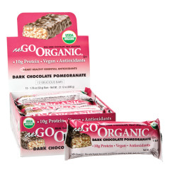 NUGO ORGANIC DARK CHOCOLATE POMEGRANATE PROTEIN BAR 1.76 OZ