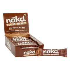 NAKD COCOA DELIGHT REAL FRUIT AND NUT BAR 1.24 OZ
