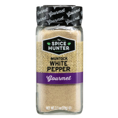 SPICE HUNTER MUNTOCK GROUND WHITE PEPPER 2.1 OZ