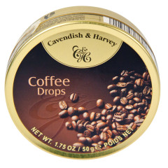 CAVENDISH & HARVEY COFFEE DROPS 1.75 OZ TIN