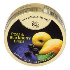 CAVENDISH & HARVEY PEAR & BLACKBERRY DROPS 1.75 OZ TIN